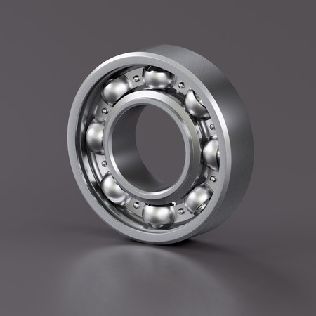 ball bearing: Ball bearing isolated on grey