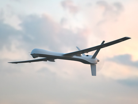 veículo aéreo não tripulado (UAV) no céu