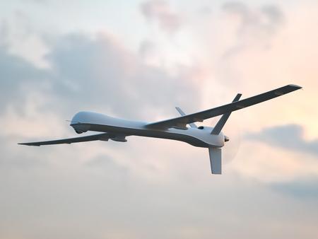 aerial: Vehículo aéreo no tripulado (UAV) en el cielo