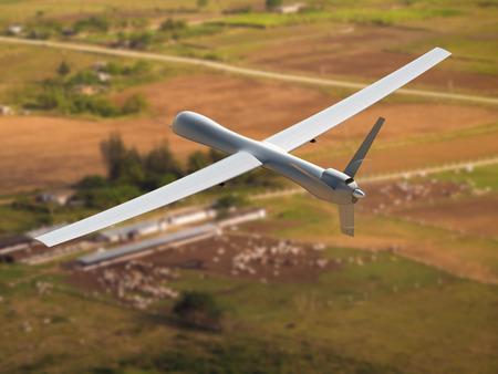 surveillance: Flying unmanned aerial vehicle (UAV)