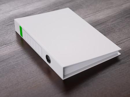 Ring binder on a table close-up Standard-Bild