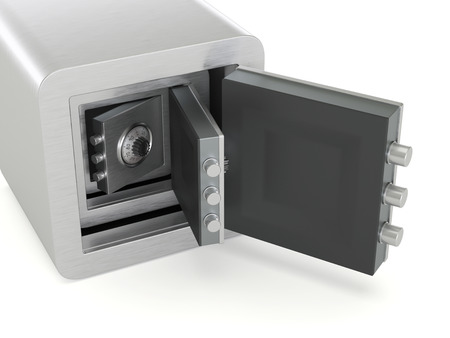 Open safe boxes nested one inside the other security concept