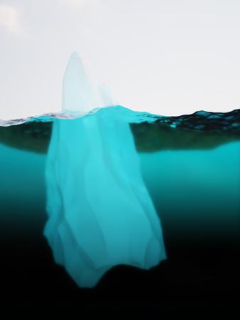 deep freeze: Iceberg on water surface closeup