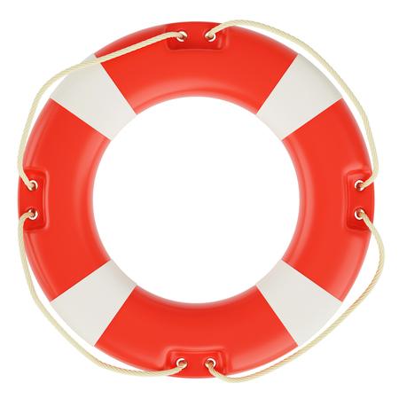 savings problems: Lifebuoy isolated on white background