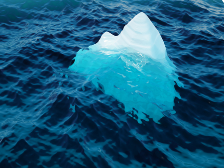 deep blue: Iceberg on water surface closeup