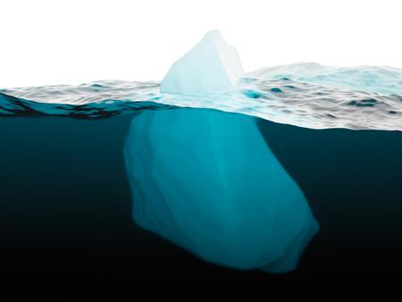 tiefe: Eisberg auf der Wasseroberfläche closeup