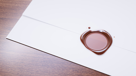 sealed: Wax sealed letter close-up Stock Photo