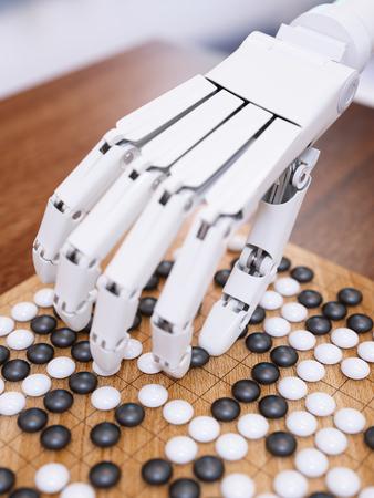 Künstliche Intelligenz traditionelles Brettspiel Go-Konzept spielen Standard-Bild - 56867168