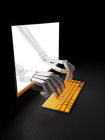 Remote control over internet hack concept 3d illustration