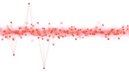 ニューラル ネットワークまたは大きなデータ配布白で隔離を抽象的な 3 d イラストのコンセプト