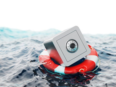 Safe Inside of Lifebuoy Savings Rescue Concept 3d Illustration