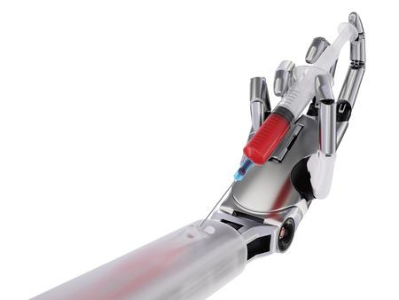 humanismo: Humanismo una ilustración Inteligencia Artificial Concepto 3D aislado en blanco Foto de archivo