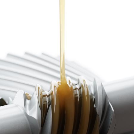 오링 웜 기어 근접 촬영 3D 일러스트 레이션