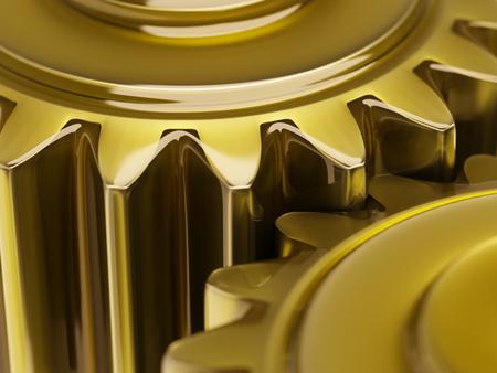 오 일 된 기어 개념 근접 촬영 3d 일러스트