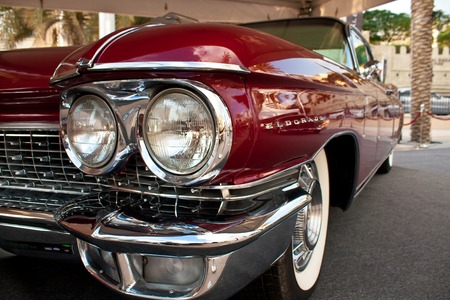 DUBAI - MARCH 14, 2012: A 1960 Cadillac Eldorado Biarritz Convertible is on car display of Emirates Classic Car Festival