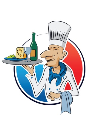 chef s hat: French cook illustration isolated on a white background