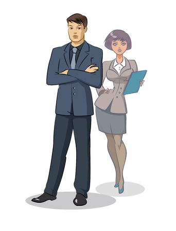 energy work: Business team