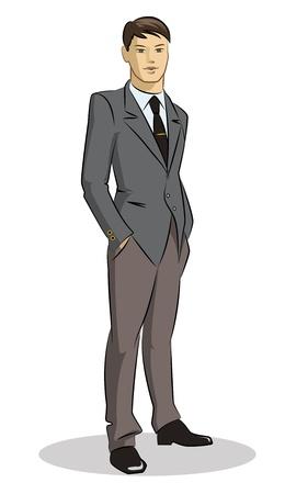 Businessman standing Illustration