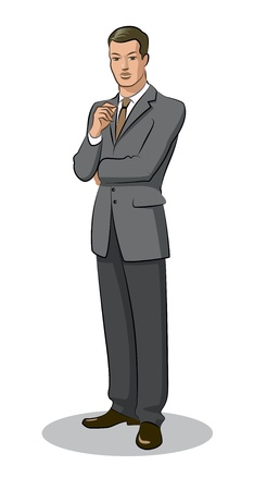 Businessman standing Ilustrace