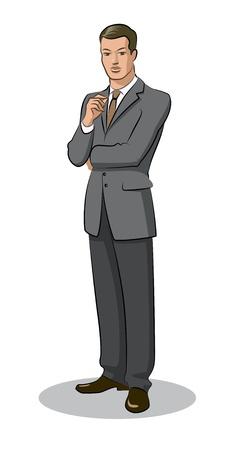 businessman standing: Businessman standing Illustration