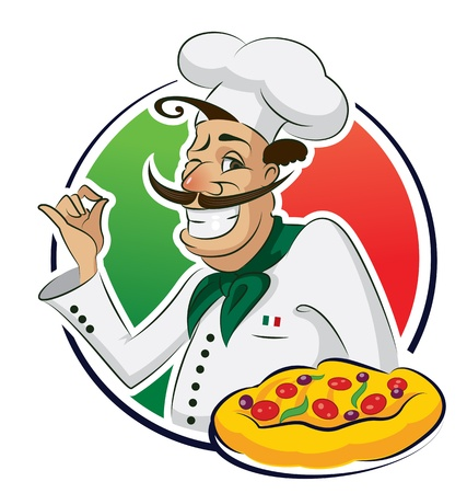 cook pizza Vector