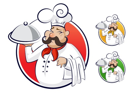 レストランを料理します。  イラスト・ベクター素材