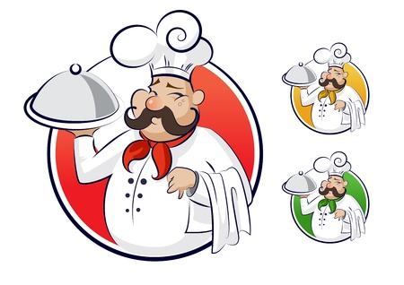Kook restaurant Stock Illustratie