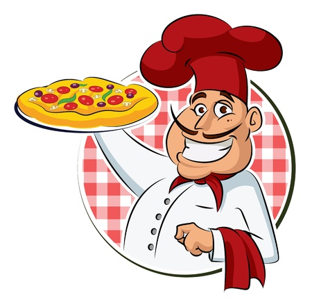 take out food: Cook Pizza