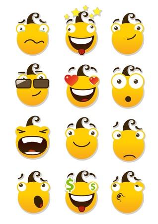 Set of smileys Stock Vector - 16646847