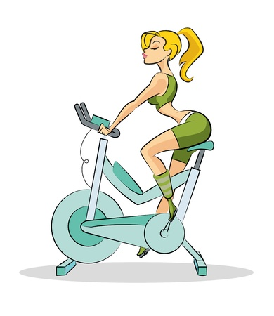 fitness club: Woman fitness Illustration