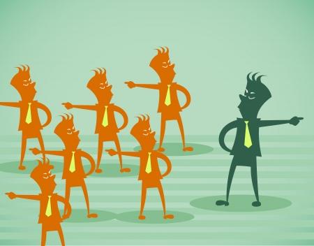 oposicion: negocio oposici�n. Vector, Ilustraci�n, aislado en un fondo blanco