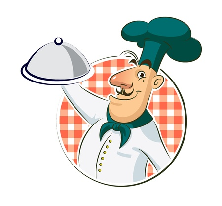 Cook restaurant. Vector illustration isolated on a white background. Vector