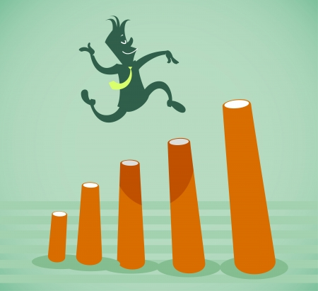 job recruitment: Performance improvement. Vector illustration on a background Illustration