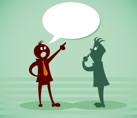 job recruitment: Discuss a problem. Vector illustration on a background Illustration