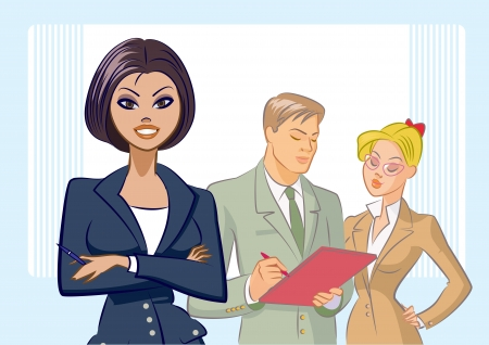 Business people. Vector illustration Vector