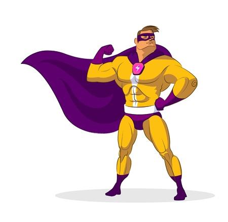 held Vector illustratie op een achtergrond