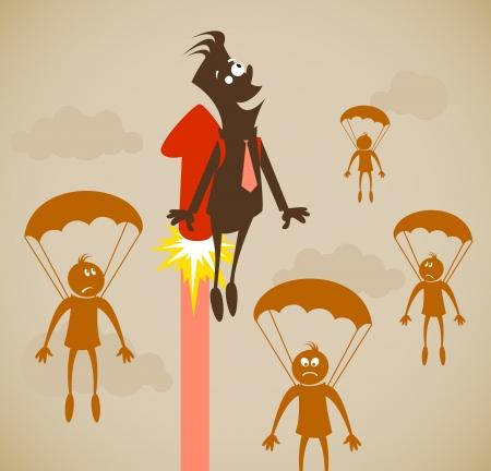 Career growth. Vector illustration on a background Vector