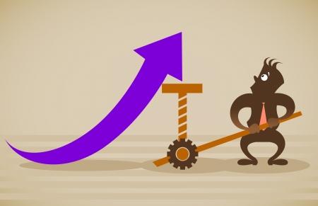 performance improvement: Performance improvement. Vector illustration on a background Illustration