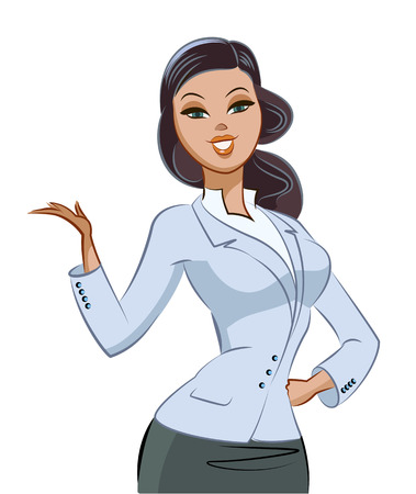 business woman. Vector illustration isolated on a white background
