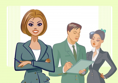 Business people. Vector illustration Illustration