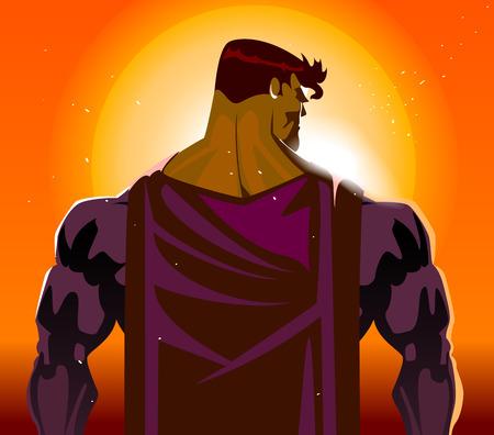 月光に戻ってスーパー ヒーロー