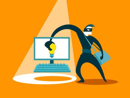 swindler: The swindler steals idea Illustration