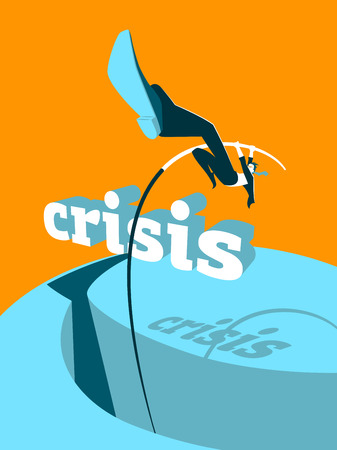 business jump: Crisis overcoming