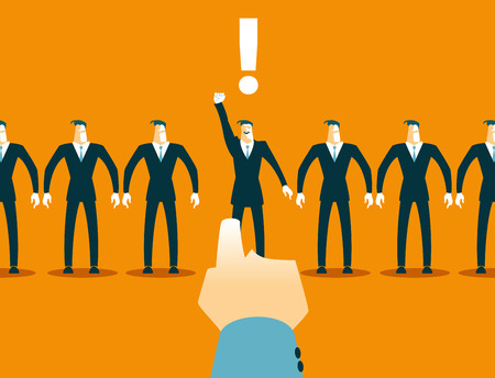 choosing: Choosing among the many employees. Recruitment.