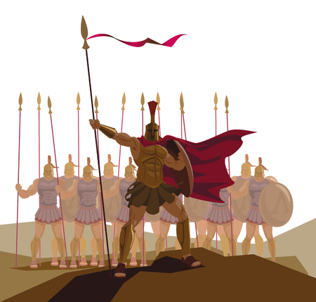 detachment: Detachment of Roman legionaries. Illustration
