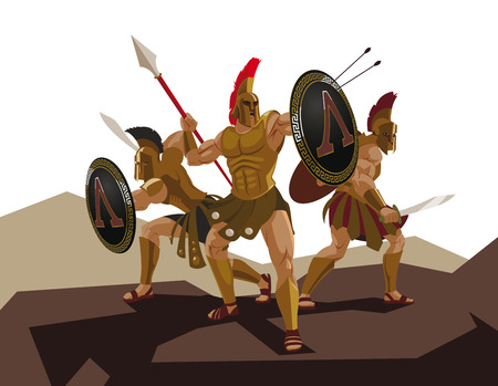 trojans: Detachment of Roman legionaries. Illustration