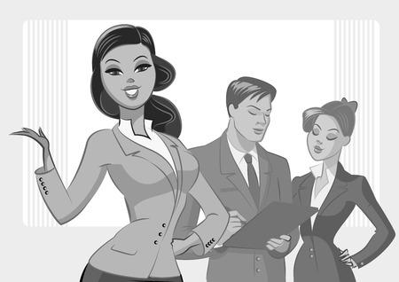 gens d & # 39 ; affaires réunis illustration vectorielle isolé sur un fond blanc Vecteurs