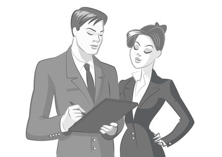 gens d & # 39 ; affaires réunis illustration vectorielle isolé sur un fond blanc