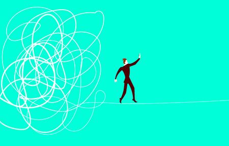 Winner raises the barbell up. Concept. Illustration