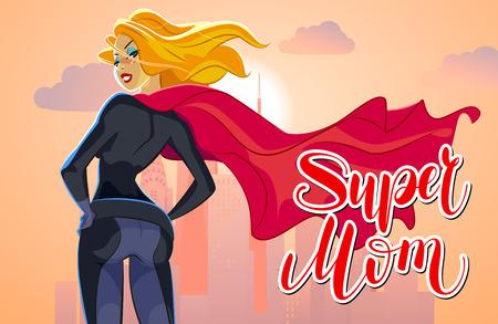 Super mom figure sign and symbol, vector illustration